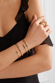 Large Pipe gold-plated cuff