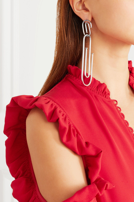 Jennifer Fisher Long Pipe silver-plated earring