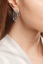 Small Pipe silver-plated earrings