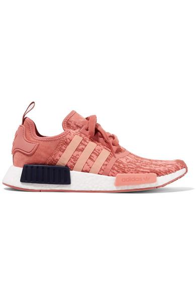 adidas Originals | NMD_R1 suede-paneled Primeknit sneakers |  NET-A-PORTER.COM