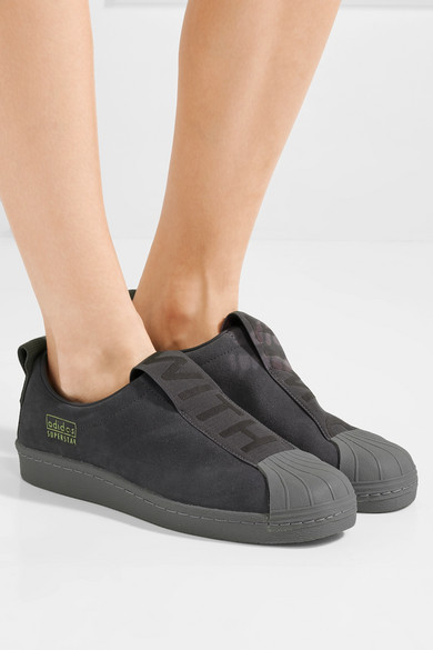 adidas Originals Suede Adidas Superstar Slip on Shoes in