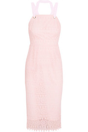 Testa Apron guipure lace midi dress
