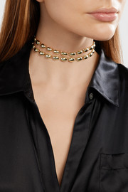 Elizabeth and James Blake gold-plated choker
