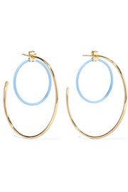 Elizabeth and James Renee gold-plated acetate hoop earrings