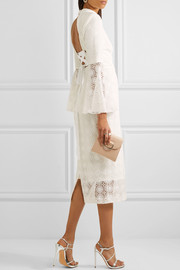 Mireya open-back lace midi dress