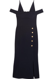 Beltrán cold-shoulder crepe midi dress