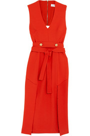 Rebecca Vallance Beltrán belted cutout crepe midi dress