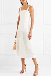 Beltrán pleated stretch-crepe midi dress
