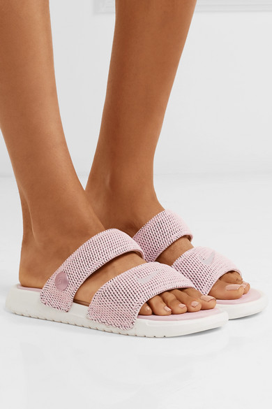 4a74407bb6c7 + Pigalle NikeLab Benassi Duo Ultra textured-knit slides