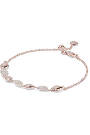 Monica Vinader Nura rose gold vermeil diamond bracelet