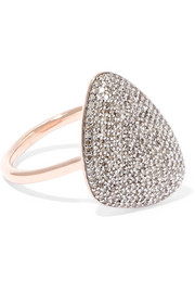 Monica Vinader Nura rose gold vermeil diamond ring