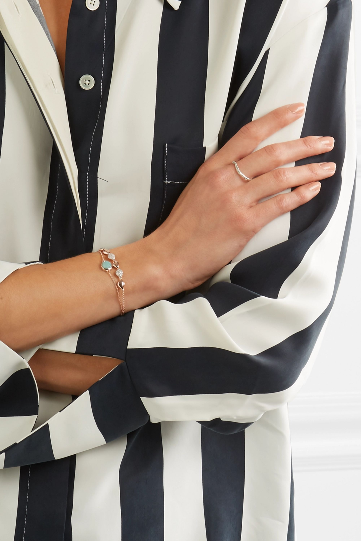 Monica Vinader Riva sterling silver diamond ring