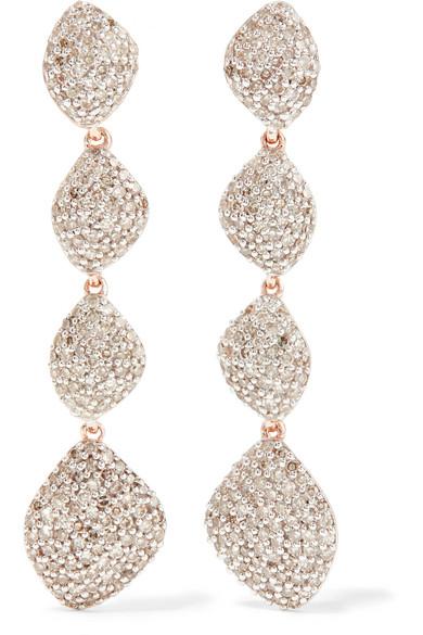 Monica Vinader Earrings NURA ROSE GOLD VERMEIL DIAMOND EARRINGS