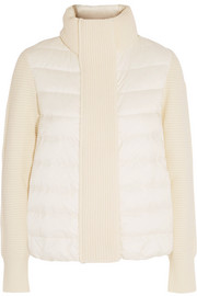 Maglione quilted shell and ribbed wool jacket