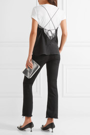 Becca lace-trimmed silk crepe de chine camisole