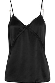 Bailey chiffon-trimmed silk-charmeuse camisole