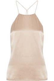 Cami NYC Elle lace-trimmed silk-charmeuse camisole