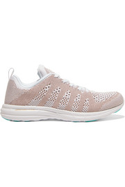 APL Athletic Propulsion Labs TechLoom Pro metallic mesh sneakers
