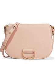 Saddle medium textured-leather shoulder bag