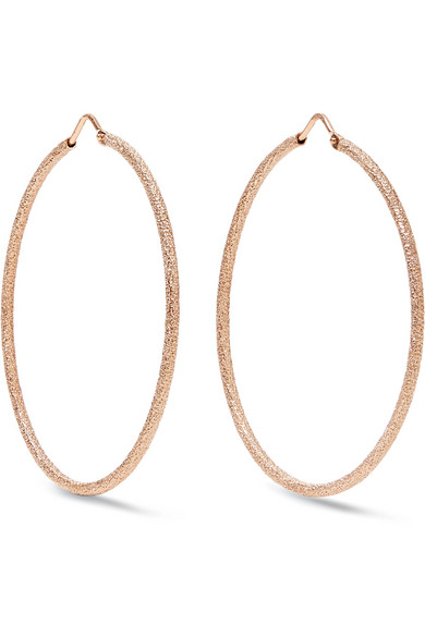 Carolina Bucci - Florentine 18-karat Rose Gold Hoop Earrings