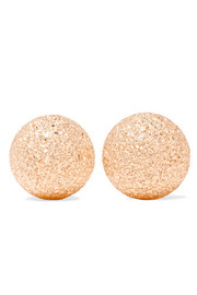 Florentine 18-karat rose gold earrings