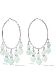 Recharmed 18-karat white gold amazonite hoop earrings