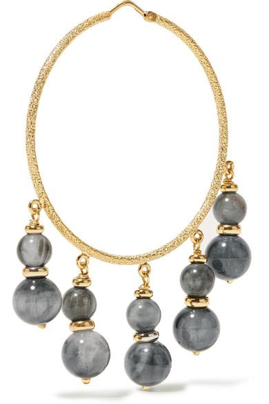 Carolina Bucci Recharmed 18-karat Gold Agate Hoop Earrings zw4UQOss6c