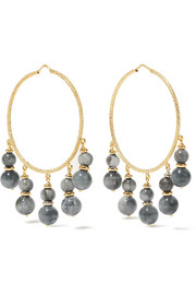 Carolina Bucci Recharmed 18-karat gold agate hoop earrings
