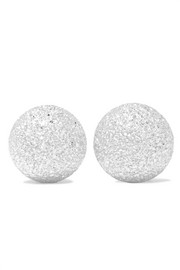 Florentine 18-karat white gold earrings