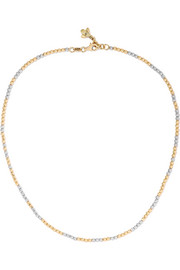 Carolina Bucci Discoball 18-karat gold and white gold choker