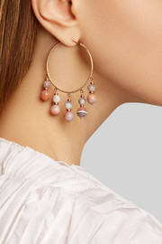 Carolina Bucci Recharmed 18-karat rose gold agate hoop earrings