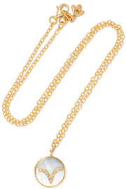 Carolina Bucci Aries Lucky 18-karat gold, diamond and mother-of-pearl necklace