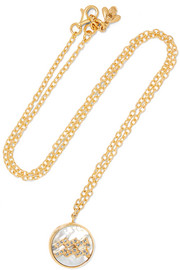 Carolina Bucci Aquarius Lucky 18-karat gold multi-stone necklace