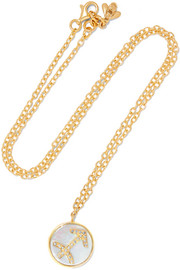 Carolina Bucci Sagittarius Lucky 18-karat gold multi-stone necklace