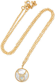 Carolina Bucci Taurus Lucky 18-karat rose gold multi-stone necklace