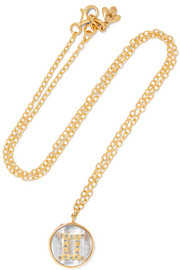 Carolina Bucci Gemini Lucky 18-karat rose gold multi-stone necklace