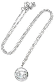 Cancer Lucky 18-karat white gold multi-stone necklace