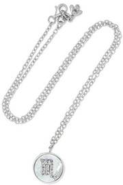 Carolina Bucci Scorpio Lucky 18-karat white gold multi-stone necklace