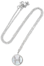 Carolina Bucci Pisces Lucky 18-karat white gold multi-stone necklace