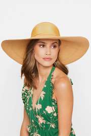 Lady Ibiza bow-embellished toquilla straw hat