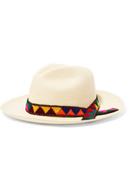 Sensi Studio Embroidered toquilla straw Panama hat