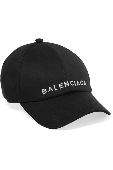 54b5eb2b21 Balenciaga | Embroidered cotton baseball cap | NET-A-PORTER.COM