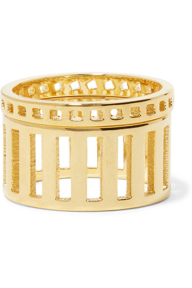Arme De L'Amour - Set Of Two Gold-plated Rings - 6