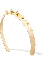 Mercury studded gold-plated headband