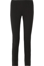 Stretch cotton and modal-blend twill skinny pants