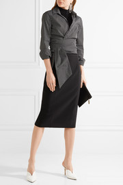 Wool-blend pencil skirt