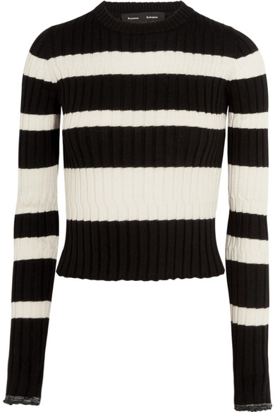 Discount Countdown Package Proenza Schouler Woman Striped Ribbed Silk And Cashmere-blend Sweater Red Size L Proenza Schouler New Styles Sale Online Svs3w