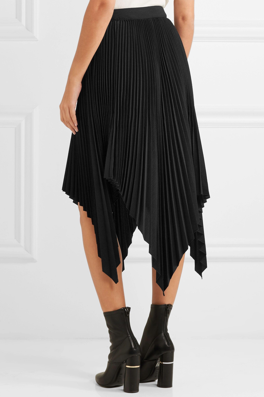Proenza Schouler Asymmetric pleated cloqué skirt
