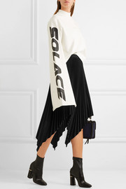 Proenza Schouler Asymmetric pleated cloqué skirt