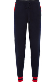 Chinti and Parker Cherry intarsia cashmere track pants